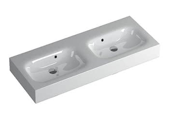 Wall Mounted Double Basins