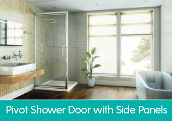 Pivot Shower Door with Side Panel