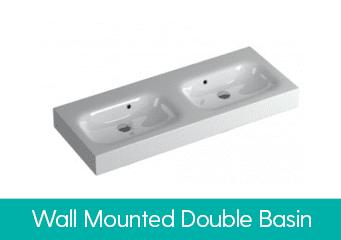 Wall Mounted Double Basins