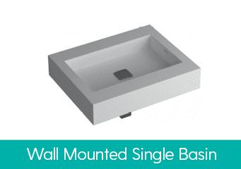 Wall Mounted Single Basins