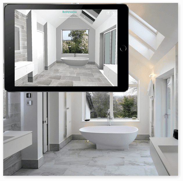 virtual reality app complementary design service bathroomsbydesign